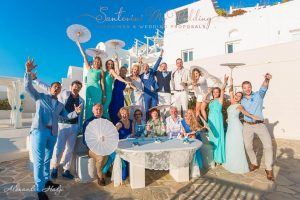 Light blue & White wedding in Santorini!   Loredana & Vladimir 14
