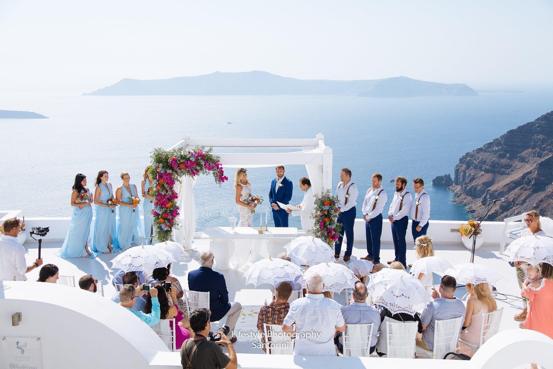 SantoriniMyWedding | dana villas wedding