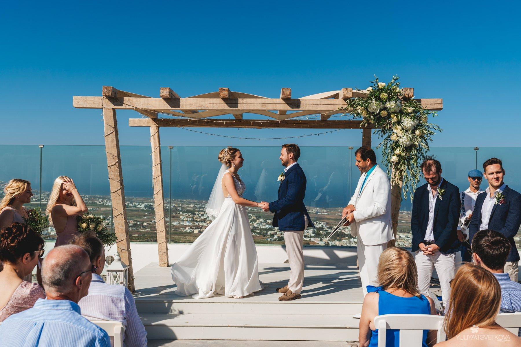 Pyrgos restaurant  Santorini Wedding 1