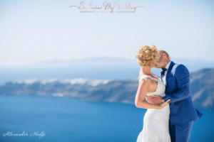 Light blue & White wedding in Santorini!   Loredana & Vladimir 11