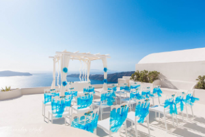Light blue & White wedding in Santorini!   Loredana & Vladimir 9