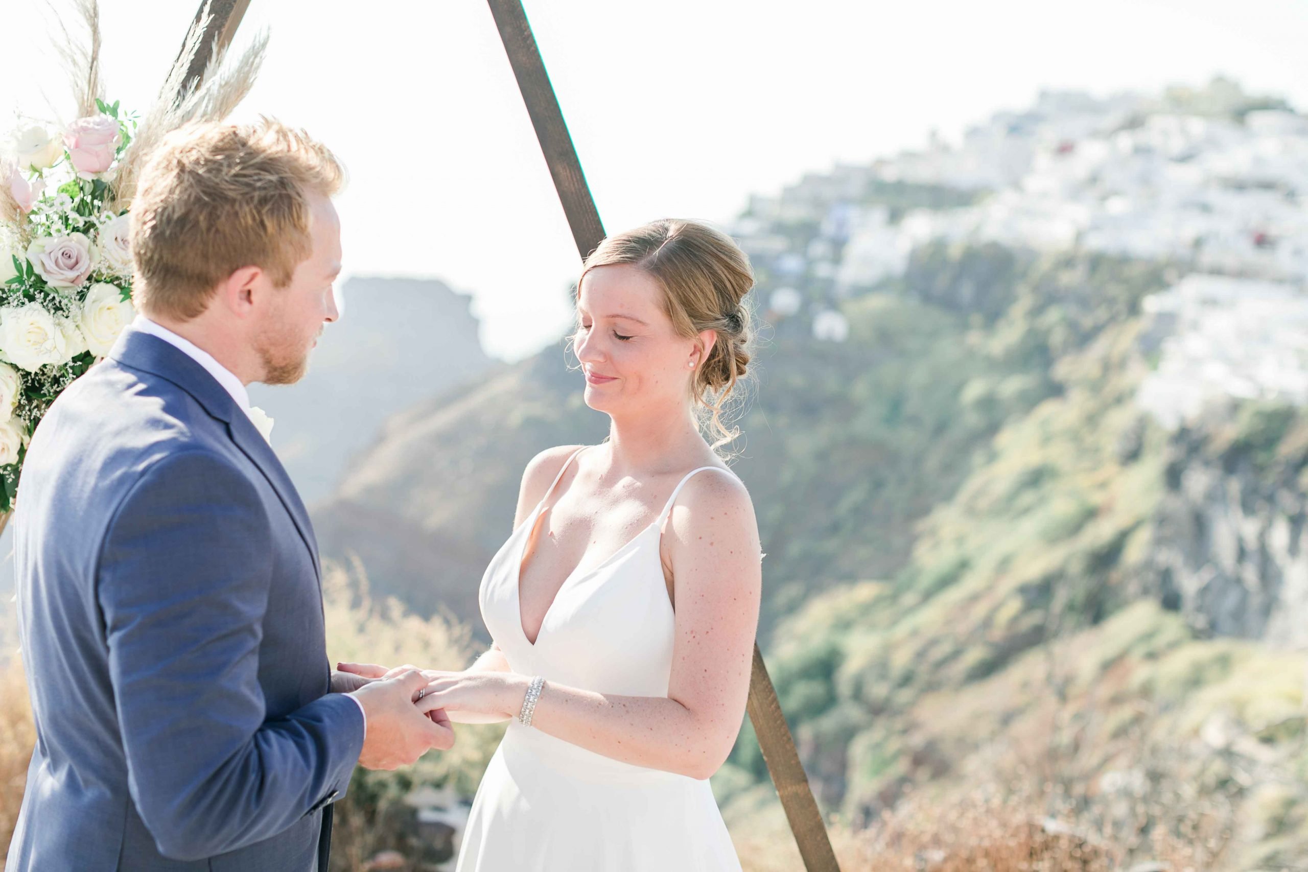 Mountain spot Santorini Wedding 1