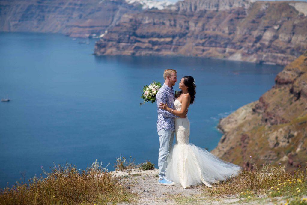 Santorini destination wedding the 1 and only destination! Pure, loving, heartfelt, warm and unforgettable! 1